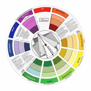 Colour Wheel Tool Mixing Paint Learning Artist Kids Guide Chart