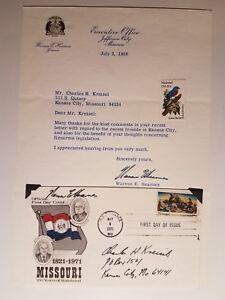 Missouri-Governor-Warren-Hearnes-signed-Harry-Truman-FDC-envelope-1971