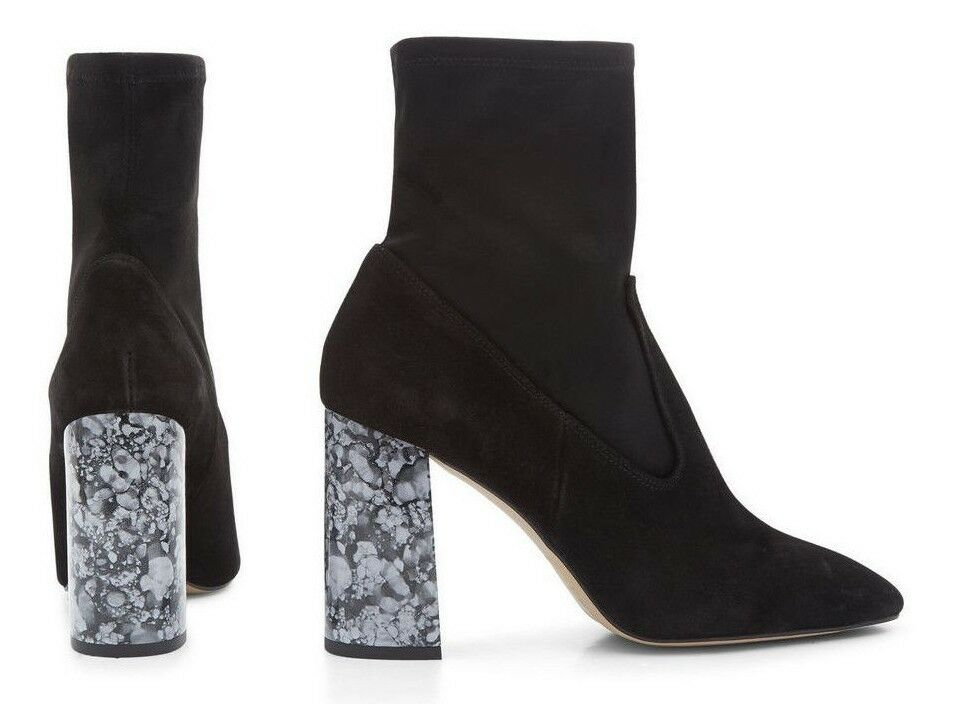 2762b4d85d5 NEW LOOK REAL LEATHER SUEDE ANKLE SIZE 3 4 5 6 7 MARBLE HEEL BOOTS ...