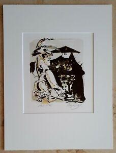 Walter-A-ANGERER-1940-der-Juengere-Lithographie-1981-Karneval-in-Venedig-2-6
