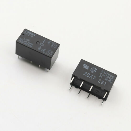 10Pcs Omron G5V-2 DC5V DPDT 8 Pins PCB Mount Low-cost Signal Relay