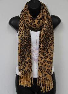 New Leopard Pattern Pashmina Silk Cashmere Shawl Scarf Stole Wrap A Blue /& Black