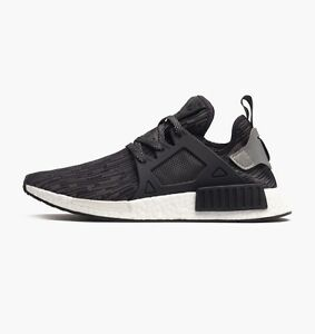 best service 61b31 cfd2c Image is loading Adidas-NMD-XR1-Primeknit-Core-Black-S77195-US-