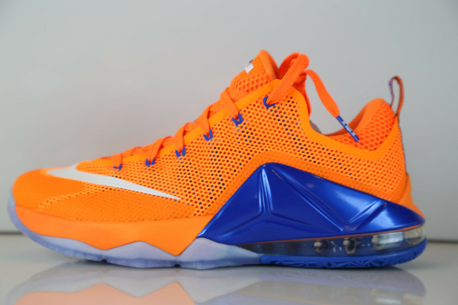 Nike Lebron XII Low Bright Citrus Total Orange 724557-838 7-14 12 8 9 10