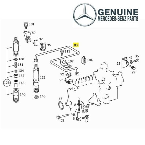 For Mercedes W210 OM606 Cylinder No4 Ignition Cable High Pressure Line Genuine