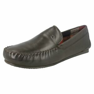 Slip On Moccasin Loafers Slippers Padders MARINO Mens Leather Wide G Fit