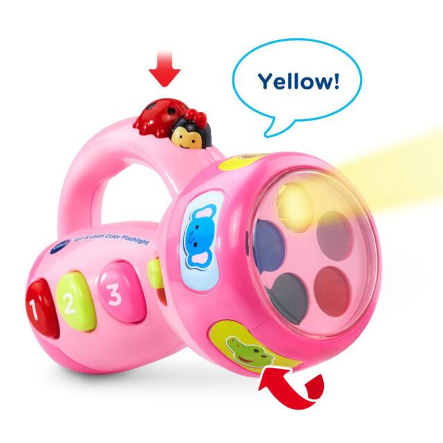 Toddler Toys Learning Color Flashlight Vtech Girls Pink Educational