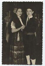 BM760 Carte Photo vintage card RPPC Couple mode fashion déguisement