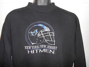 54c27a4f6 Vintage WWE XFL New York New Jersey Hitmen Crewneck Sweatshirt