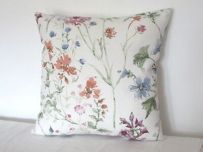 """Piped Laura Ashley Meadow Sienna Fabric Cushion Cover 16/"""""""