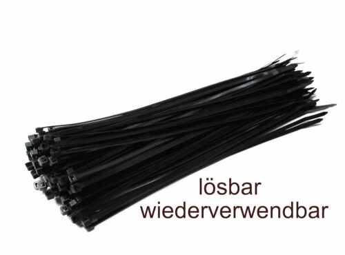 Kabelbinder wiederlösbar wiederverwendbar UV stabil Nylon verschiedene Größen