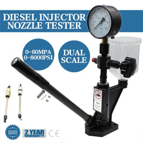Diesel Einspritzdüsen Prüfgerät Tester 0-8000PSI Druck Injektor-Test Device
