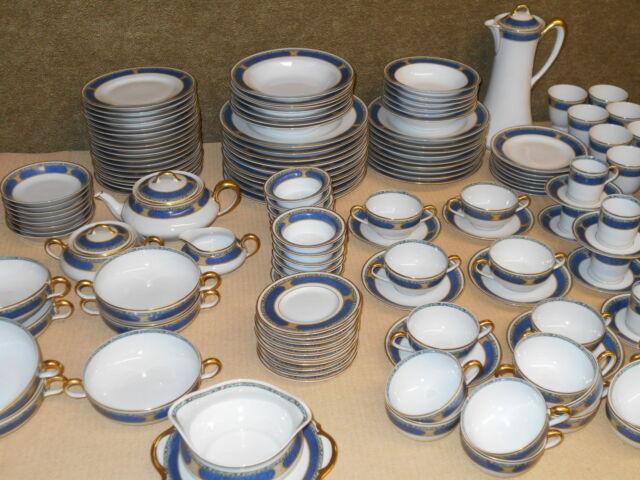 Porcelain Dinner Set - L Bernardaud & Co Limoges France