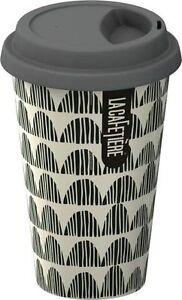 la cafetiere grey bunting travel mug ceramic eco cup lid 250ml