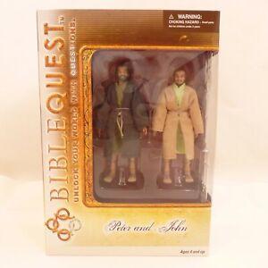 BibleQuest Peter & John Figures Jesus Birth Nativity Bible Character Set
