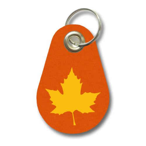 Samunshi Schlüsselanhänger Ahornblatt aus Filz Kanada  12 Farben 9,5x6,5cm