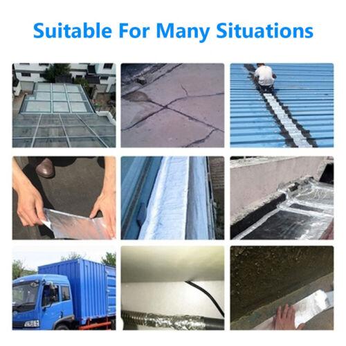 Waterproof Aluminum Foil Tape Pipe Repair Crack Duct Tape Sealer Home Renovation