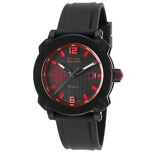 Bulova-65B165-Men-039-s-Accu-Swiss-Percheron-Black-Automatic-Watch