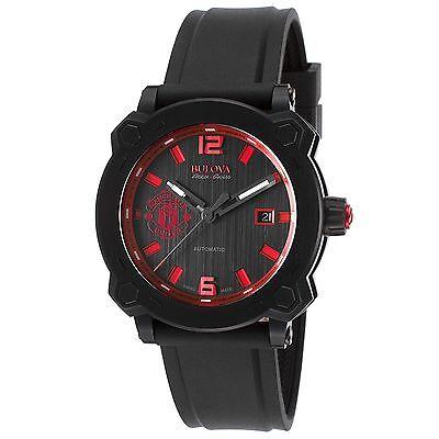 Bulova 65B165 Men's Accu-Swiss Percheron Black Automatic Watch