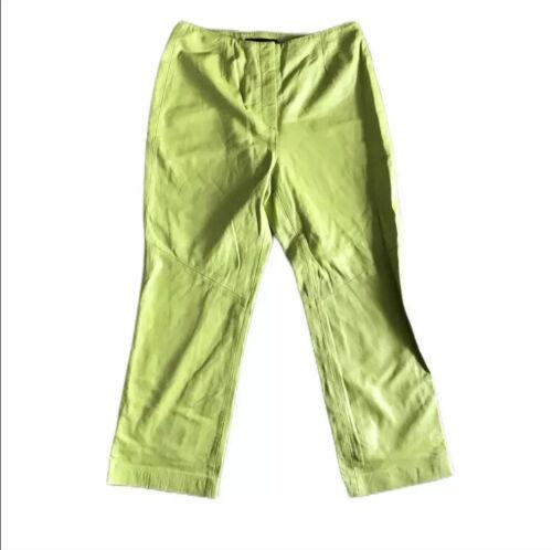 Finito Studio Leather Lime Green Pants