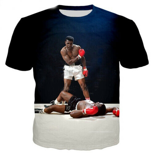 Fashion Women Men Casual T-Shirt 3D Print Boxer Muhammad Ali Oversized Tee Tops