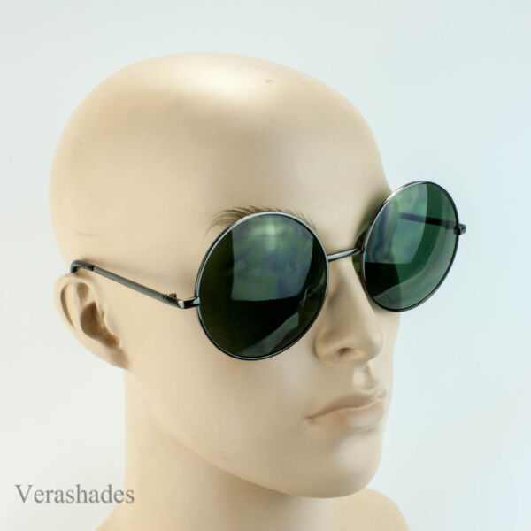 390fb148f8 WoMen Retro Fashion Extra Large Oversized Gold Metal Circle Round Sunglasses  Si