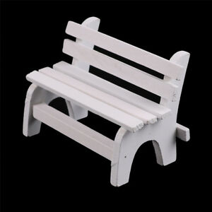 White-Park-Bench-Seat-Micro-landscape-Chair-Crafts-Toy-Dollhouse-Home-Decor-AU