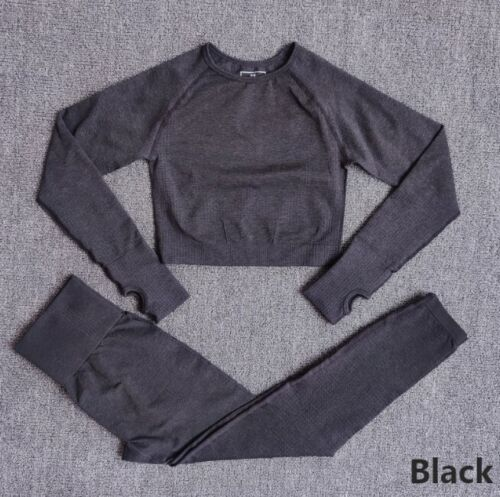 Details about  /Women Seamless 2 Piece Gym Sports Yoga Set Sport Suit Workout Clothes for Girls
