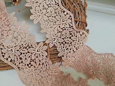 "Stunning Extra Wide 7/"" //18cm Black Guipure Galloon Lace Trimming .Crafts//Sewing"
