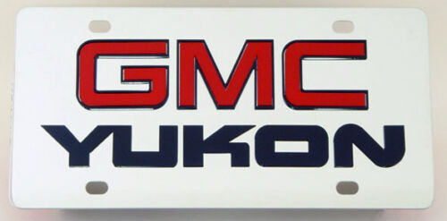 304 Stainless Steel 3D License Plate GMC Yukon    suv