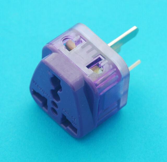 UK EU USA to Australia China Universal Travel Adaptor AC Power Plug Dual Ports
