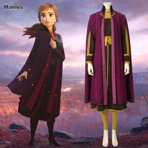 2019 Frozen 2 Princess Anna Cosplay Adult Women Costume Fancy Dress Halloween