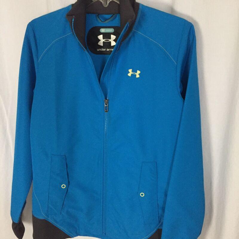 Honest 0220047 Under Armour Medium Full Zip Windbreaker Jacket M Fleece Lined Coat