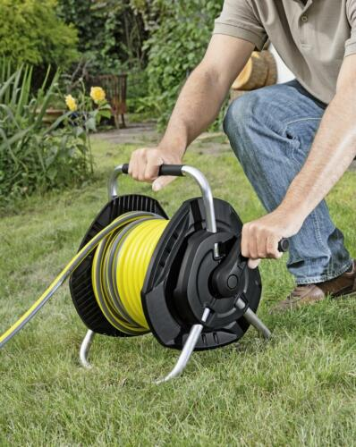 Karcher Hose Reel with 25m Flexible Garden hose Wall Mountable Portable 26452810