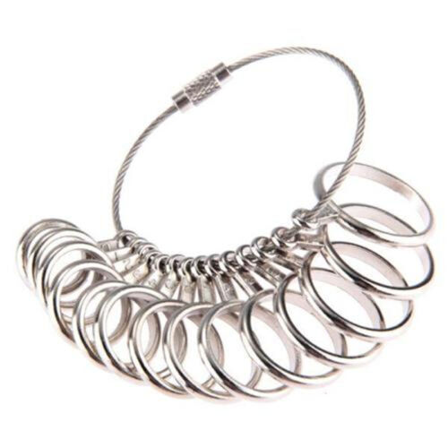 New YJandard Metal Jewelry Measure Gauge Finger Ring Sizer Tool Size 0-13 UK YJ