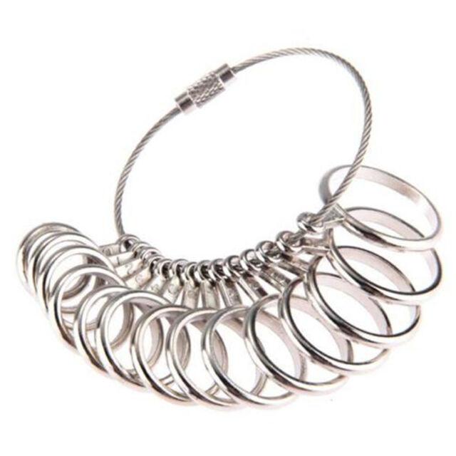 US Standard Metal Jewelry Measure Gauge Finger Ring Sizer Tool Size 0-13 SEA