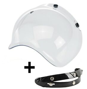 VISIERA-RECLINABILE-BUBBLE-A-BOLLA-CASCO-3-BOTTONI-TRASPARENTE