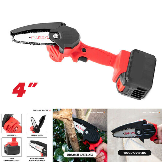 Cordless Electric Chain Saw Wood Cutter 550W One-Hand Saw Woodworking UK PLUG