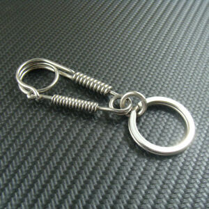 Handmade Stainless Steel Keychains Key ring Key chain Holder with Snap Hook