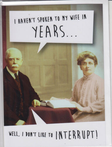 Humour Birthday Card - ~ FREE P/&P I Don/'t like To Interrupt MIX10