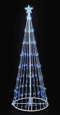 Blue LED Lightshow Tree 6 Foot Indoor or Outdoor Christmas Decoration