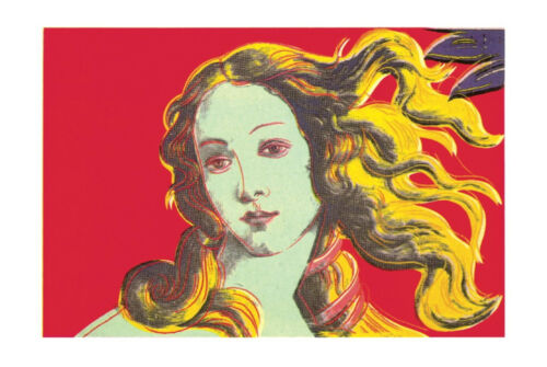 Red by Andy Warhol Art Print Offset Lithograph Poster 27.5x39.5 Birth of Venus