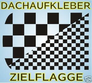 Dachaufkleber-Zielflagge-Dach-Auto-Aufkleber-Race-Mini-Karo-Tuning-Folie
