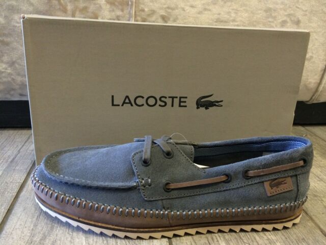 204087ba77d8b3 LACOSTE Mens Moccasin Shoes Sneakers Low Trainers Sauville Srm Suede