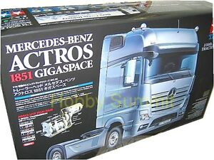 Tamiya-R-C-1-14-Mercedes-Benz-ACTROS-1851-GIGASPACE-Tractor-Truck-Kit-56335