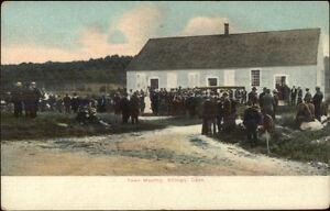 Killingly-CT-Town-Meeting-c1910-Postcard