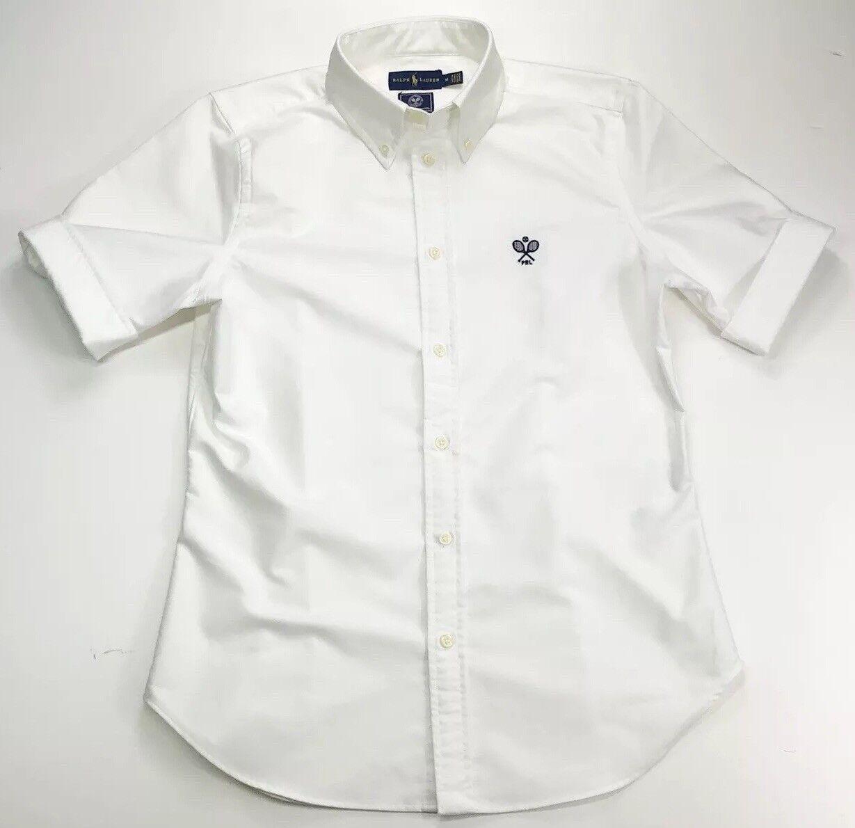 Ralph Lauren Corte donna bianco Wimbledon Maniche Corte Lauren Camicia  Oxford-Taglia M 8e6189 03ae0eb4bb8