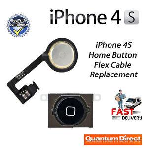 NUEVO-Negro-Boton-De-Inicio-con-Flex-Cable-Recambio-Reparacion-Para-iPhone-4s