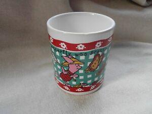 Vintage Winnie the Pooh Disney /'The Butterfly Was Pretty/' Coffee Tea Mug Cup