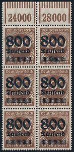 DR-1923-MiNr-305-I-tadellos-postfrisch-gepr-Infla-Mi-70